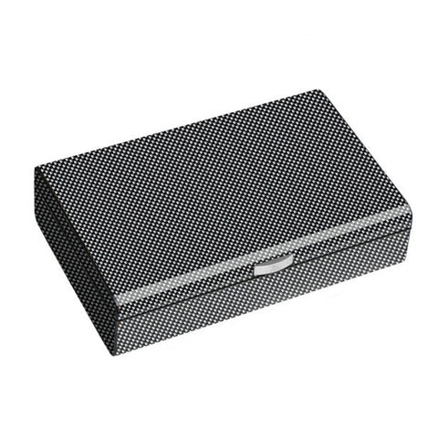 Image of Ajax Carbon Fiber Pattern Humidor 50 Cigar Count - Shades of Havana