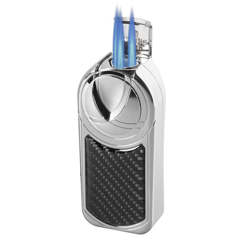 Dobrev V5 Torch Flame Table Lighter | Carbon Fiber
