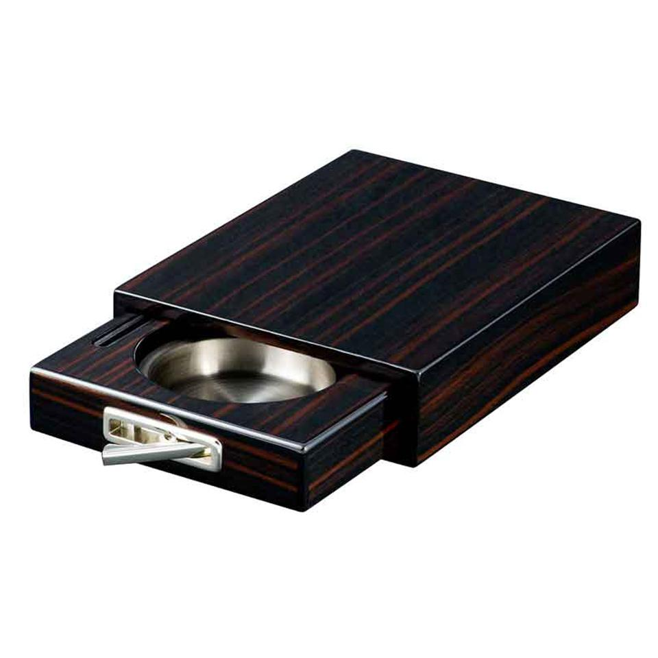 Drawer Single Cigar Ashtray | Iron Wood Finish - Shades of Havana