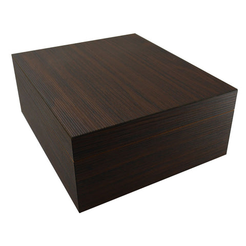 Visol Firenze Walnut PVC Veneer Desktop Humidor - 25 Cigars Capacity - Shades of Havana