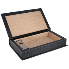 Folio Travel Humidor Kit - Black Leather 5 Cigar Count