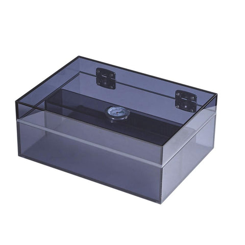 Image of Leo Acrylic Humidor 50 Cigar Count | Navy Blue - Shades of Havana