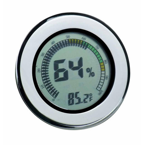 Modern Circular Digital Hygrometer - Shades of Havana