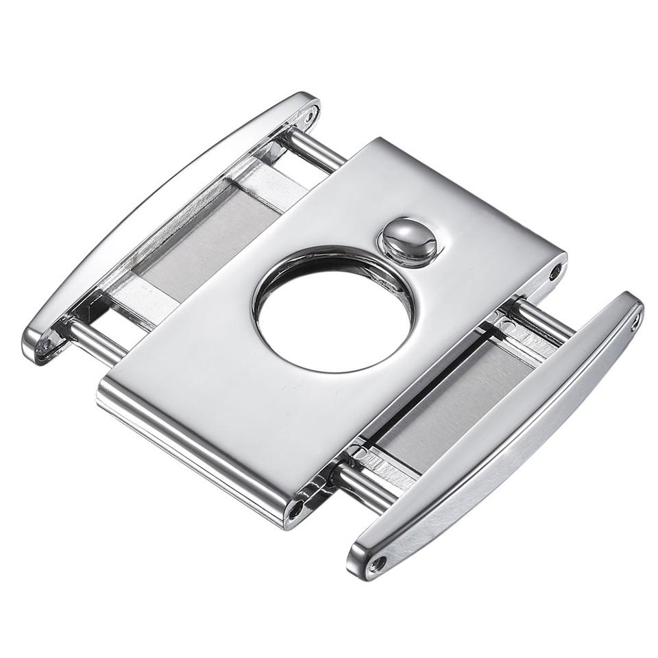 Ryuu Double Guillotine Cigar Cutter | Polished Chrome - Shades of Havana