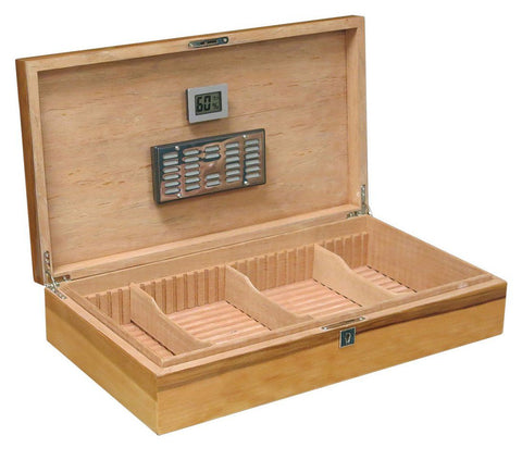 Image of WINCHESTER - Authentic Apple Wood Lacquer Finish - Holds 180 Cigars - w/ Slotted Divider System - Shades of Havana