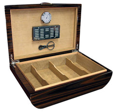Waldorf - Ebony Lacquer Humidor - 150 Cigars - Prestige Import Group