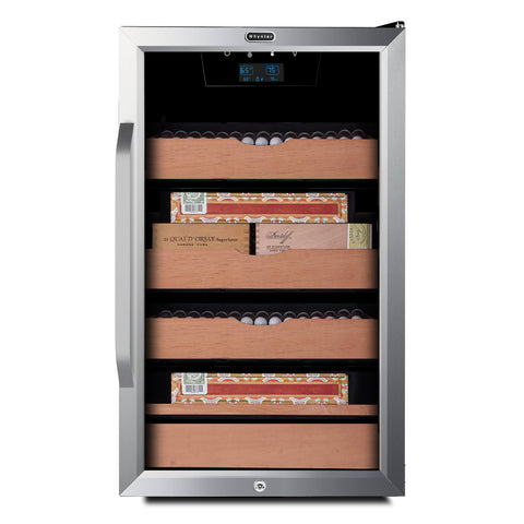 Image of Whynter 421HC Cigar Cabinet Humidor Cooler with Humidity Temperature Control and Spanish Cedar Shelves - 4.2 Cu.Ft.