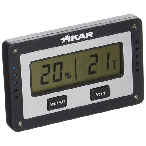 Xikar PuroTemp Rectangle Digital Hygrometer - Shades of Havana