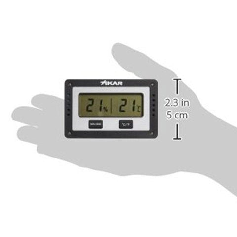 Xikar PuroTemp Rectangle Digital Hygrometer