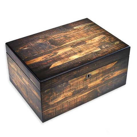 Image of Adirondack 100 Count Humidor Reclaimed Wood Look - Shades of Havana