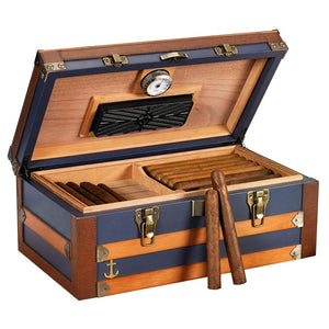 Admiral Medium Humidor Supreme 120 Cigar Count - Shades of Havana
