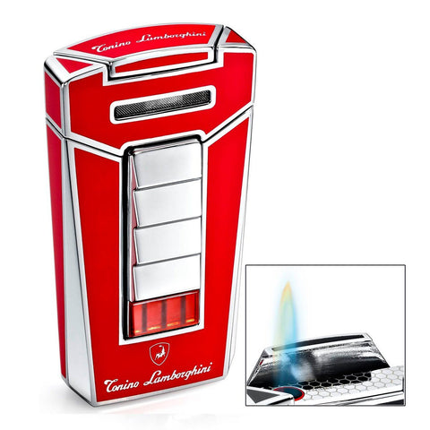 Image of Aero - Red Torch Flame Cigar Lighter - Tonino Lamborghini - Shades of Havana