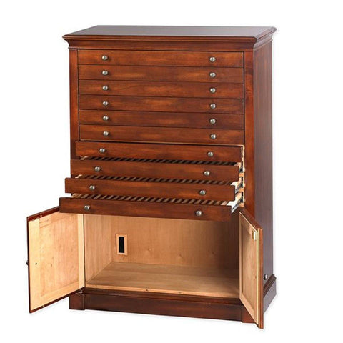 Image of Primo Aging Vault Antique Cabinet Humidor | 1500 Cigar Count - Shades of Havana