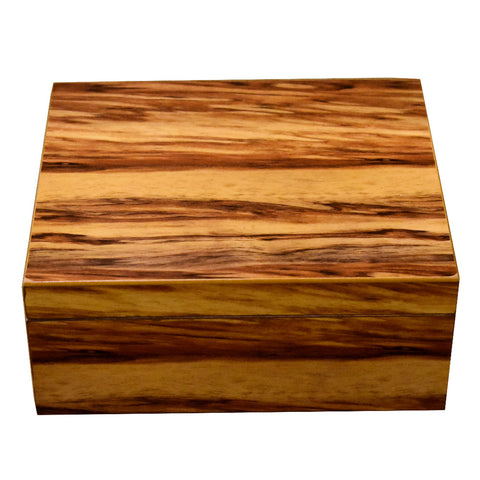 Ashcroft Bass Wood Humidor - 50 Cigar Capacity Humidor - Shades of Havana