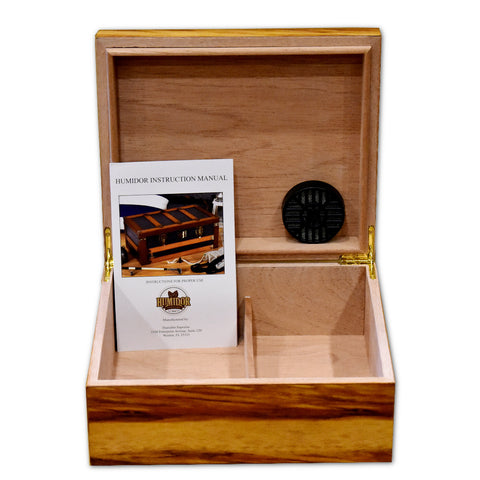 Ashcroft Bass Wood Humidor - 50 Cigar Capacity Humidor