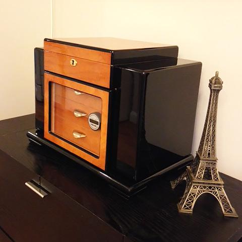 Image of Baccus Large Humidor 200 Ct. Cigar Capacity - Shades of Havana