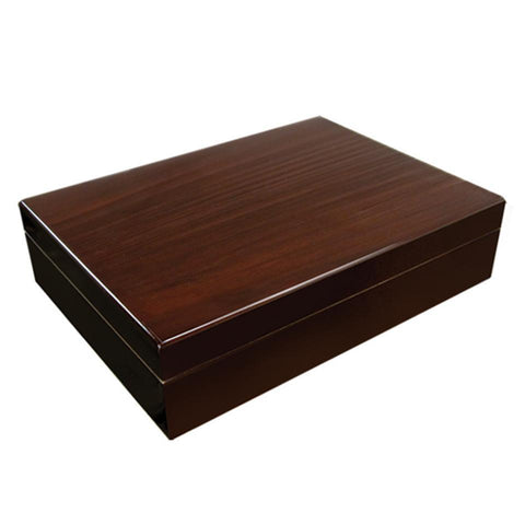 Image of Bellevue Small Humidor 25 Cigar Count | Dark Walnut Finish - Shades of Havana