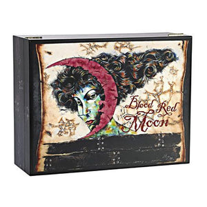 Blood Red Moon Humidor 100 Cigar Count with Brand Art - Shades of Havana