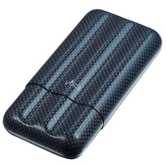 Blue Kevlar & Carbon Fiber Cigar Case - 3 Fingers - Visol