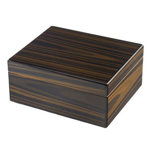 Don Salvatore Bourbon Street Humidor Exotic-Striped Ebony - Shades of Havana
