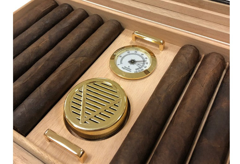 Braydon Glasstop Humidor - 35 Cigar Count - Shades of Havana