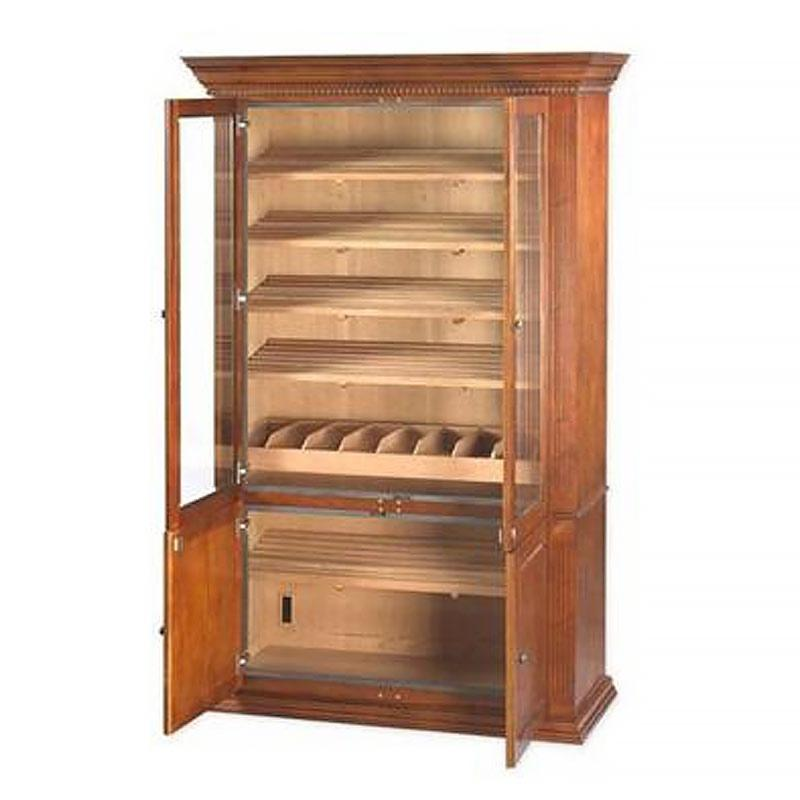Burbank Deluxe Cabinet Humidor 5000 Cigar Count - Shades of Havana
