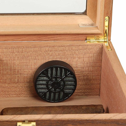 Capri Elegant Glass Top Humidor 25-50 Cigar Count