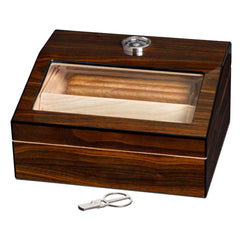 Captain - Walnut Finish - 40 Cigar Humidor - Visol