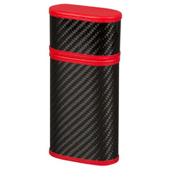 Carbon Fiber and Red - 3 Finger Cigar Case - Tonino Lamborghini - Shades of Havana