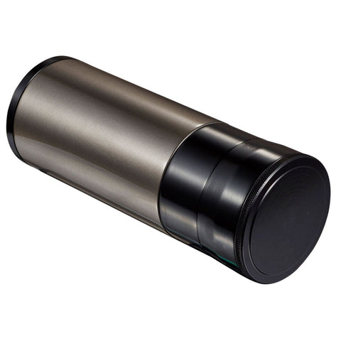 Image of Carlos Travel Humidor Tube 7 Cigar Count | Black and Gunmetal - Shades of Havana