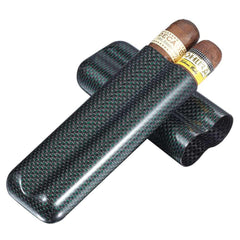 Cartenium - Two Finger Titanium Carbon Fiber Cigar Case - Visol - Shades of Havana