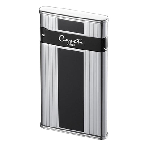 Caseti Flaco - Black Panel - Single Torch Flame Cigar Lighter - Shades of Havana