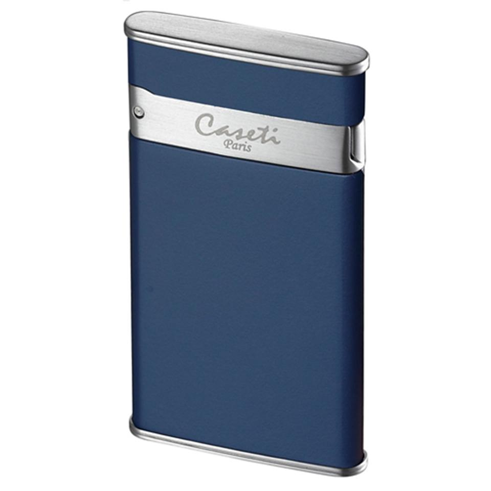 Caseti Flaco - Blue Matte - Single Torch Flame Cigar Lighter - Shades of Havana