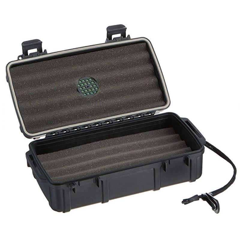 Cigar Caddy 10 Stick Travel Humidor - Hard Case Humidor - Shades of Havana