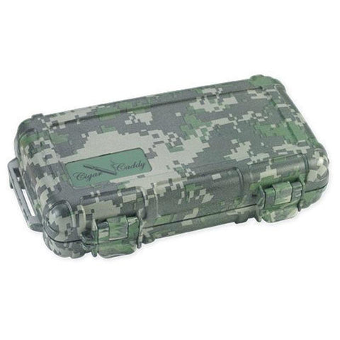 Cigar Caddy 5 Stick Travel Humidor - Forest Camouflage - Shades of Havana