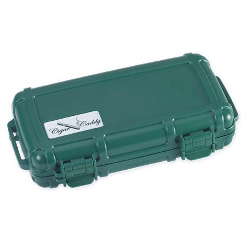 Cigar Caddy 5 Stick Travel Humidor - Country Club Green - Shades of Havana