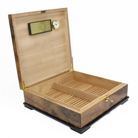Image of Blue Chip 130 Cigar Count Humidor | Cigar Classics Walnut - Shades of Havana
