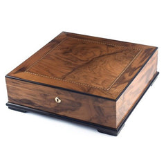 Blue Chip Humidor - Walnut Finish - 130 Cigars - Cigar Classics