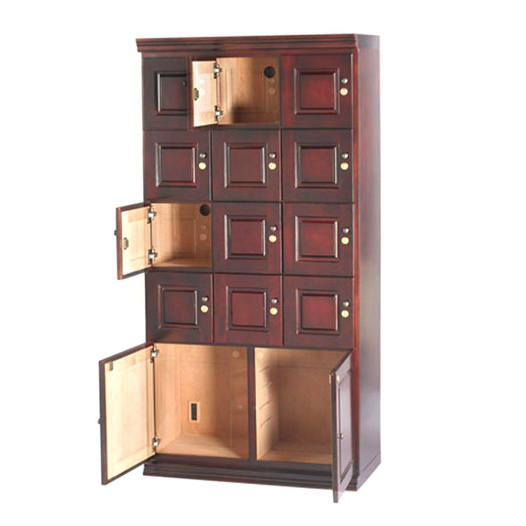 Cigar Locker Cabinet Humidor - 12 Section Commercial Cigar Locker - Shades of Havana