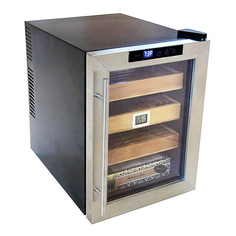 Image of Clevelander Electronic Humidor Cabinet 250 Cigar Count | Electric Humidifier - Shades of Havana