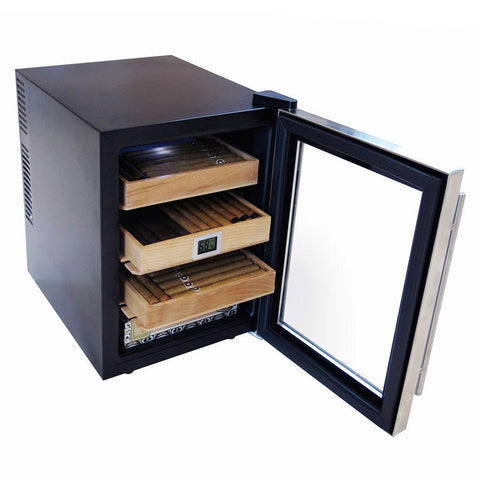 Clevelander Electronic Humidor Cabinet 250 Cigar Count | Electric Humidifier