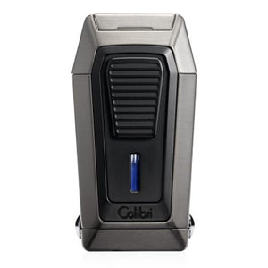 Colibri Gotham - Triple Flame Lighter With V-Cutter - Shades of Havana