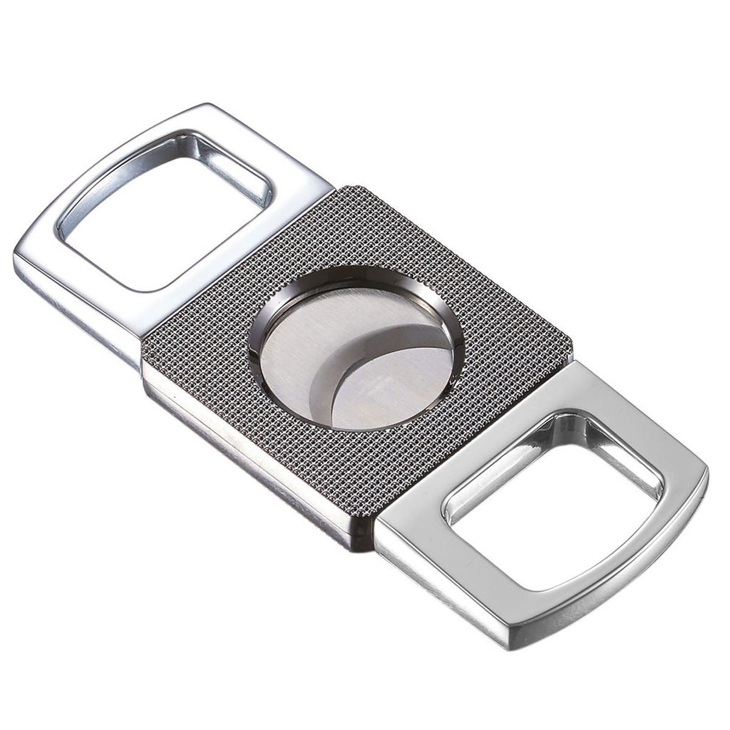 Cortez Double Guillotine Cigar Cutter | Chrome - Shades of Havana