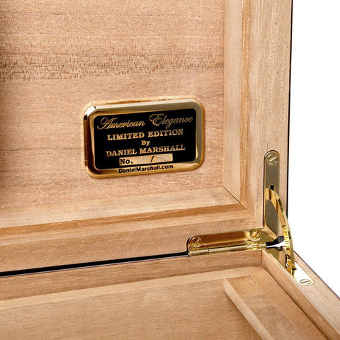 Image of Daniel Marshall Humidor 20th Anniversary Treasure Chest - Burl - Shades of Havana