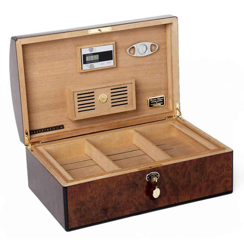 Daniel Marshall Humidor 20th Anniversary Treasure Chest - Burl - Shades of Havana