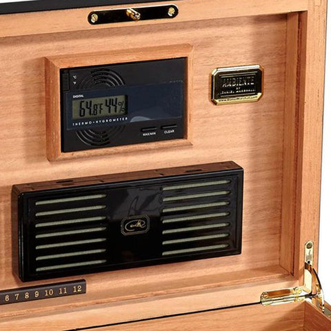 Image of Daniel Marshall Humidor Ambiante 65 - Black - Shades of Havana