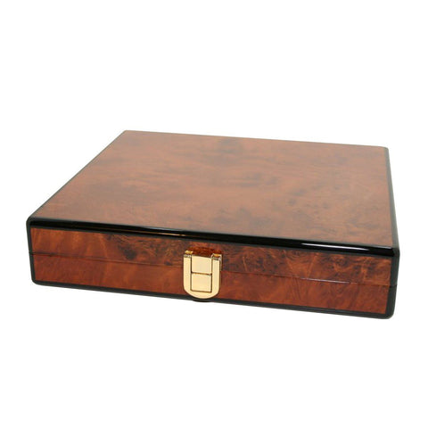 Image of Daniel Marshall Slim Travel Humidor - Burl - Shades of Havana