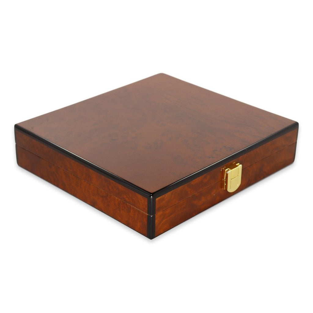 Daniel Marshall Slim Travel Humidor - Burl - Shades of Havana