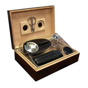 Davenport Humidor Kit 40 Cigar Count | With Matching Accessories - Shades of Havana