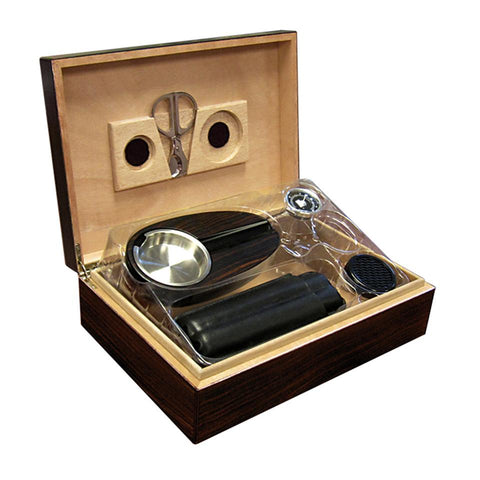 Image of Davenport Humidor Kit 40 Cigar Count | With Matching Accessories - Shades of Havana